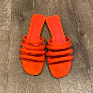 Coral Slide Sandals by ZARA 8/39